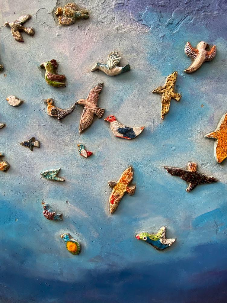 Ceramic Birds on the Wall