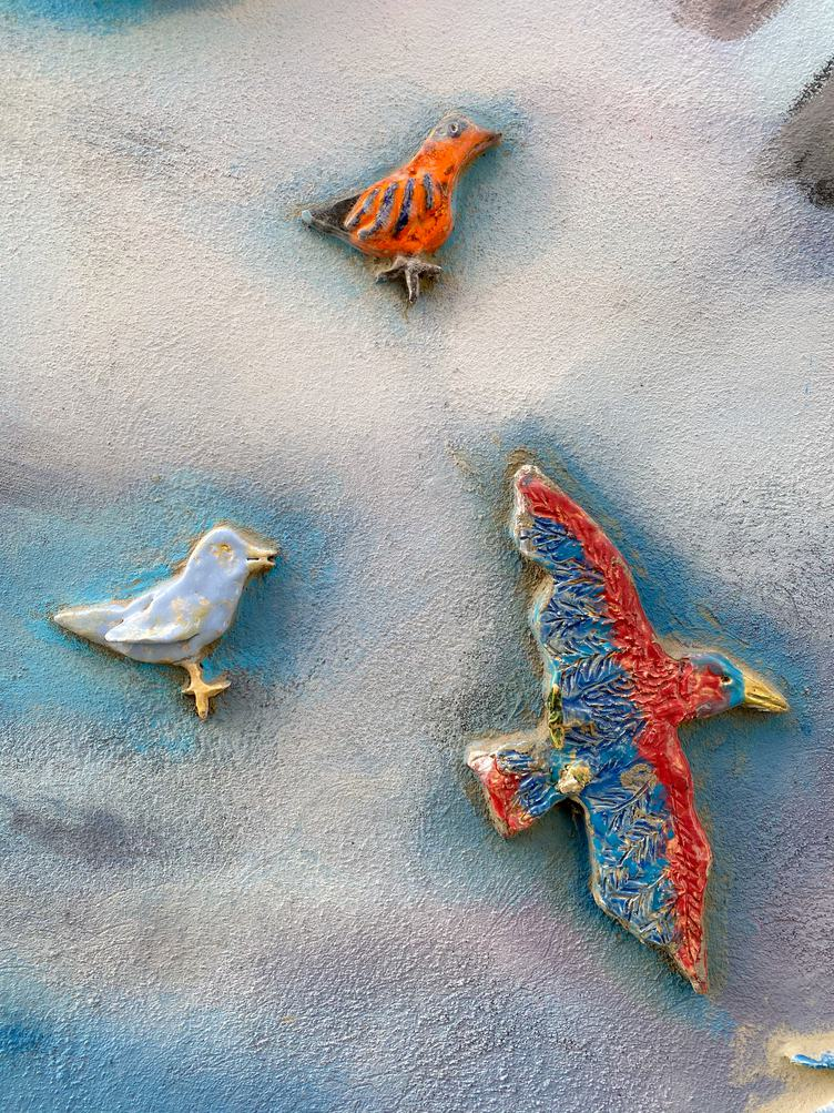 Colorful Ceramic Birds