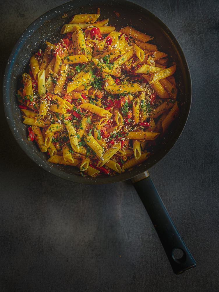 Noodle Dish in a Pan
