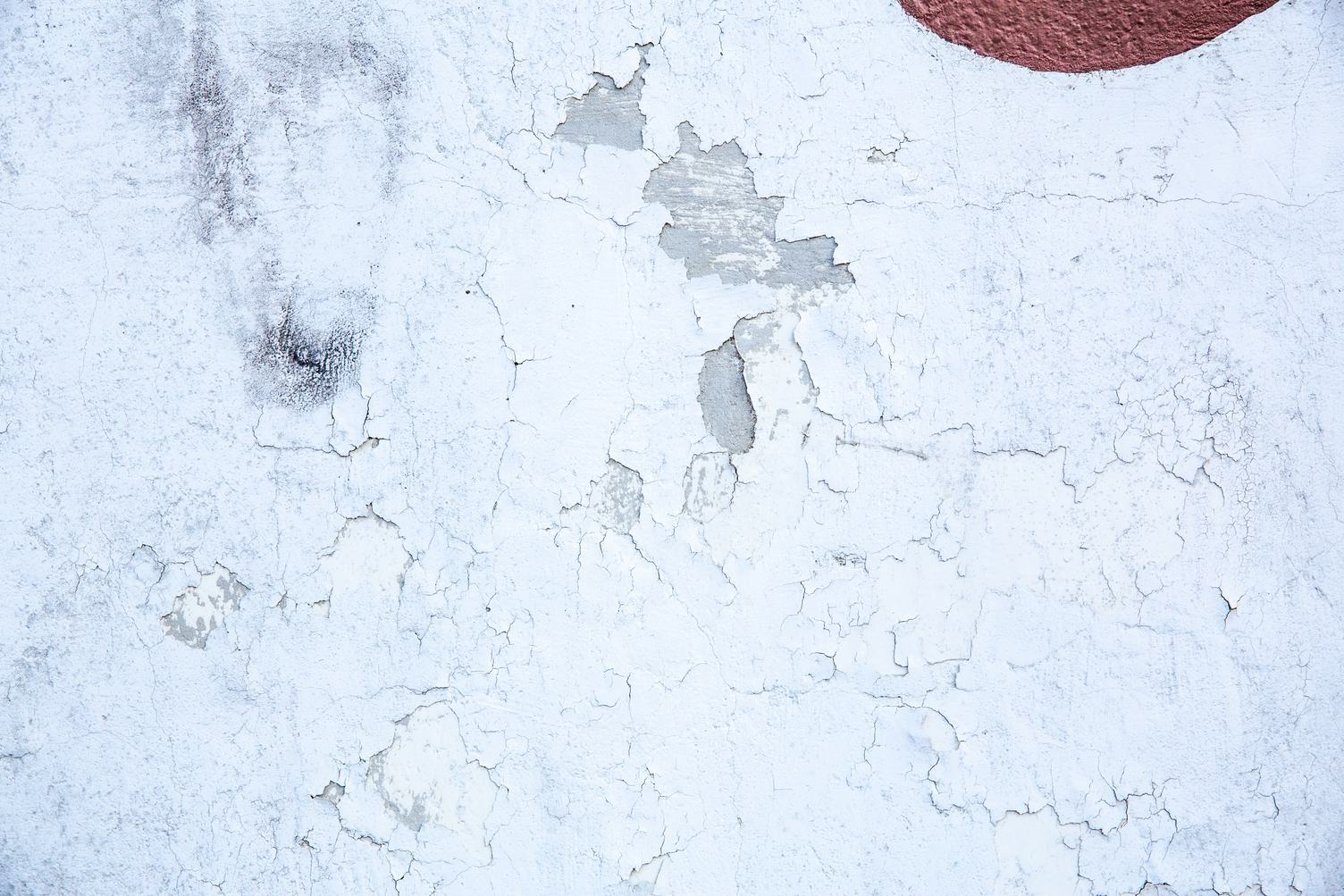 White Cracked Wall